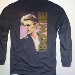 David Bowie Adult Long Sleeve T -Shirt